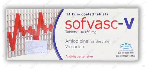 Sofvasc -V Tablets 10/160mg 14's