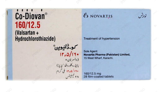 Co-Diovan Tablets 160/12.5mg 14's