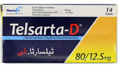 Telsarta D Tablets 80/12.5mg 14's