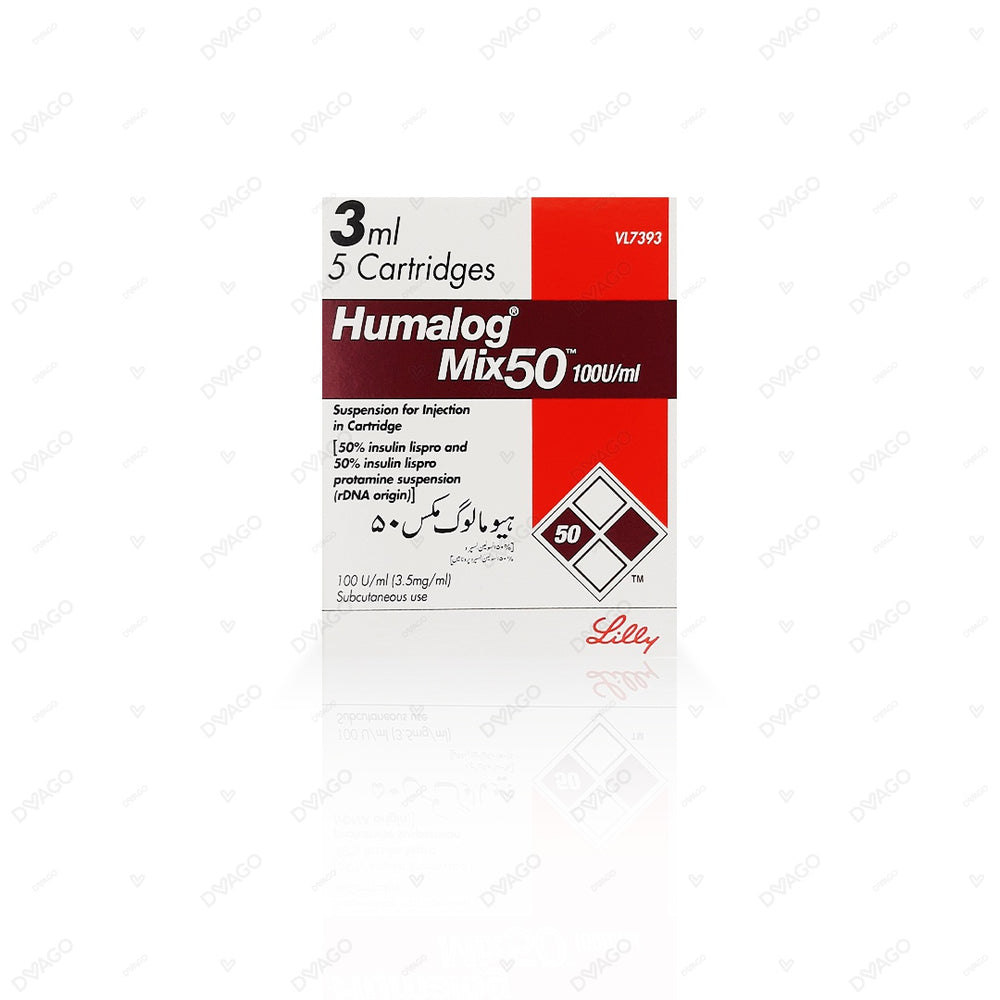 Humalog Mix 50 Injection 100 Iu 5 Cartridgesx3ml