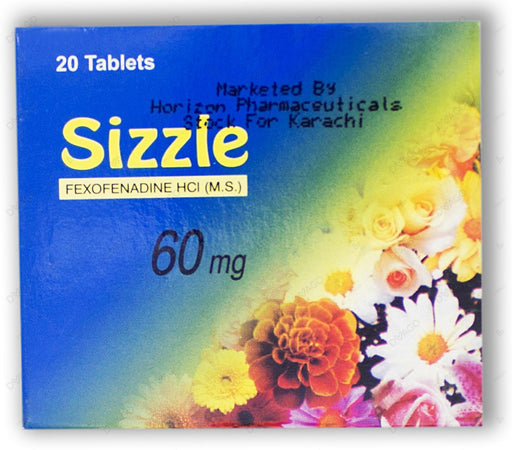 Sizzle 60mg Tablets 20's
