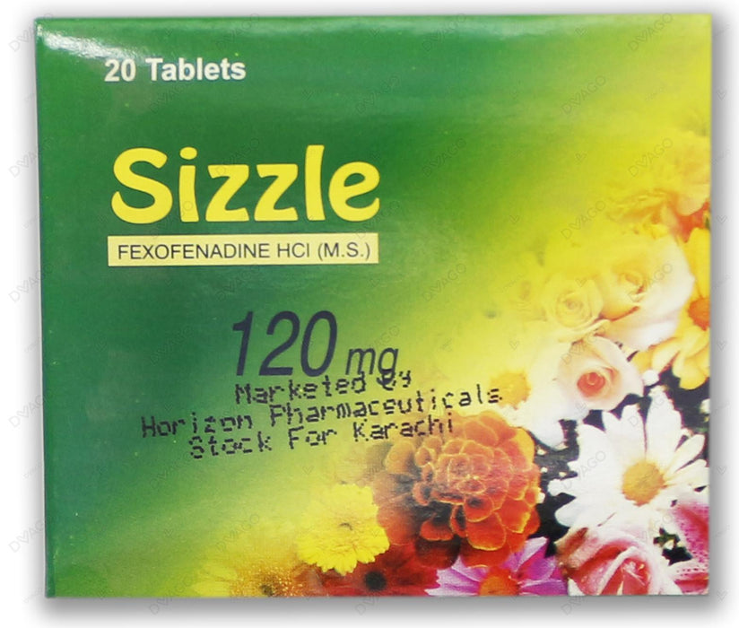 Sizzle Tablets 120mg 20's