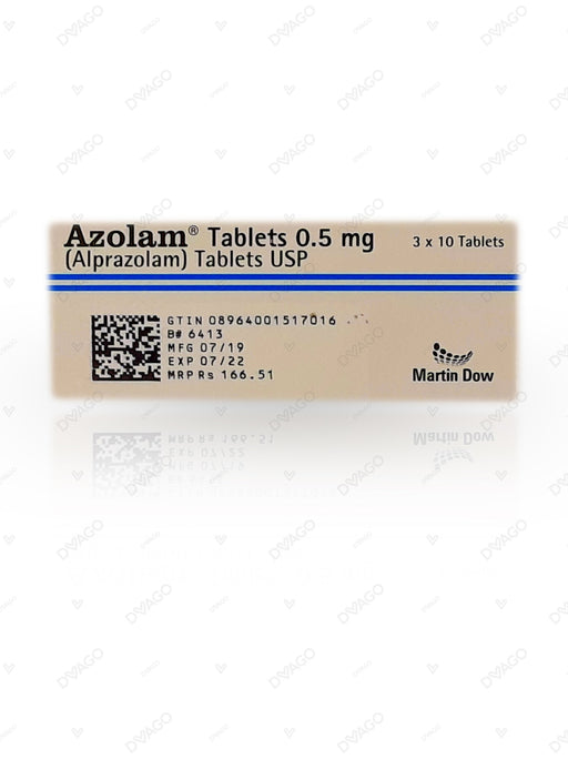 Azolam Tablets 0.5mg 3X10's