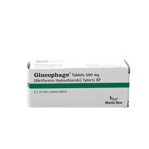 Glucophage Tablets 500mg 5X10s