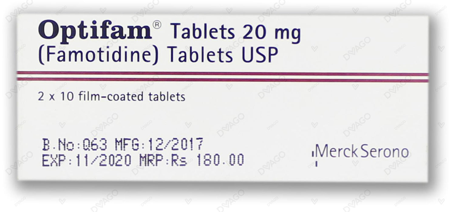 Optifam Tablets 20mg 2X10's