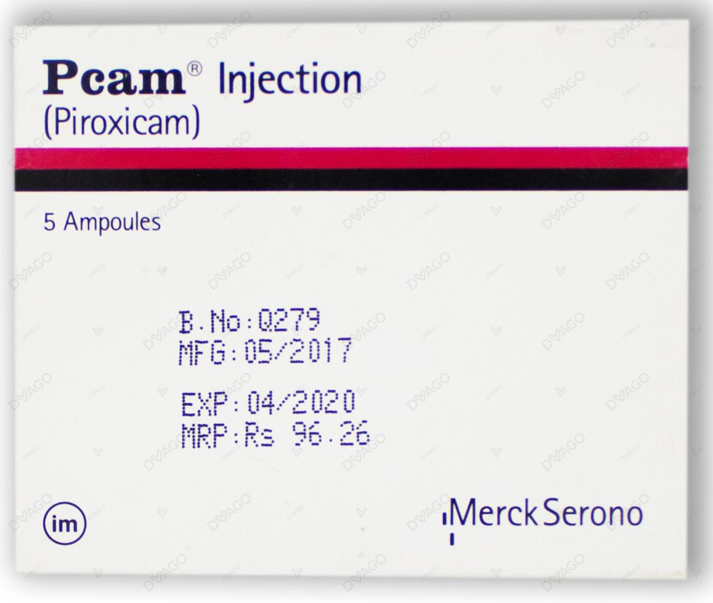 Pcam Injection 20mg 5 Ampoules X 1ml