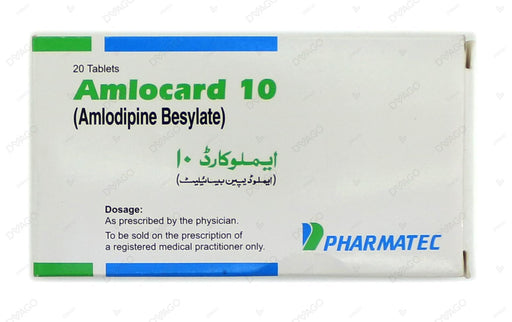 Amlocard Tablets 10mg 2X10's