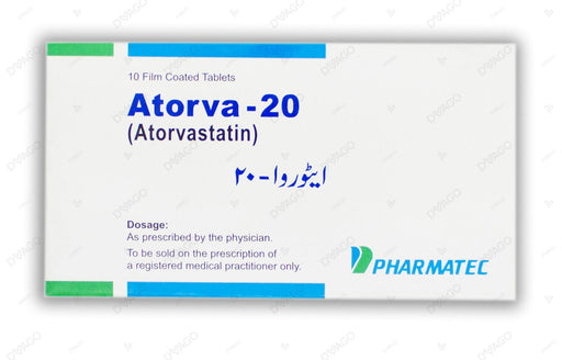Atorva Tablets 20mg 10's
