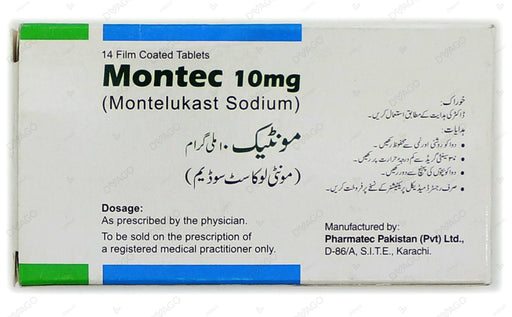 Montec 10mg Tablets 14's