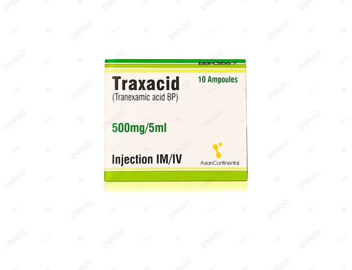 Traxacid Injection 500mg 10 Ampoules X 5ml