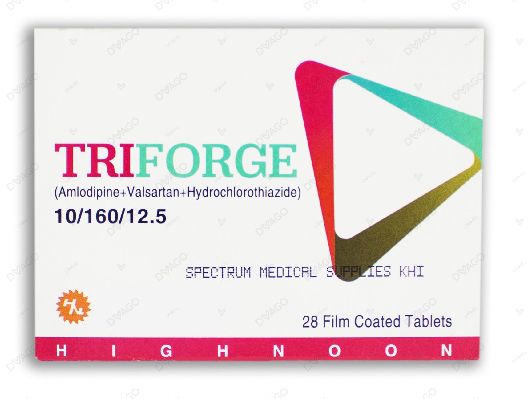 Triforge 10/160/12.5 Tablet