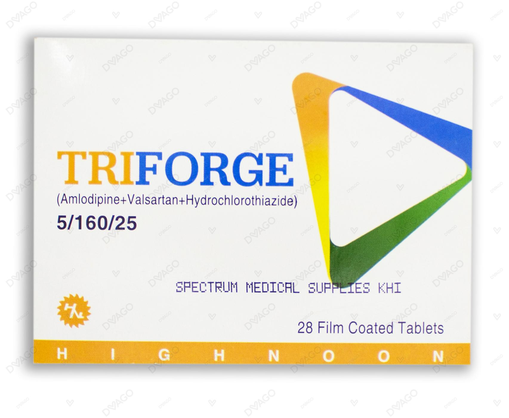 Triforge 5/160/25 Tablet