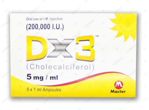 Dx3 Injection 5mg/ml-1X5's (Blister)