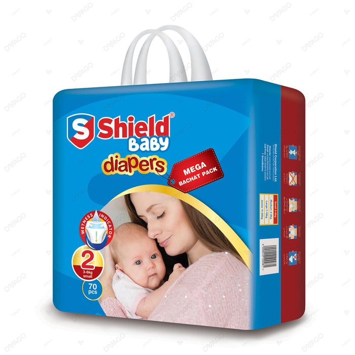 Shield Diaper Mega Bachat Pack Small 70 Count