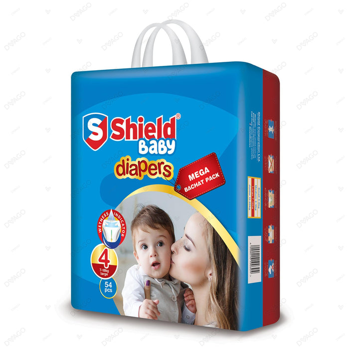 Shield Diaper Mega Bachat Pack Large 54 Count