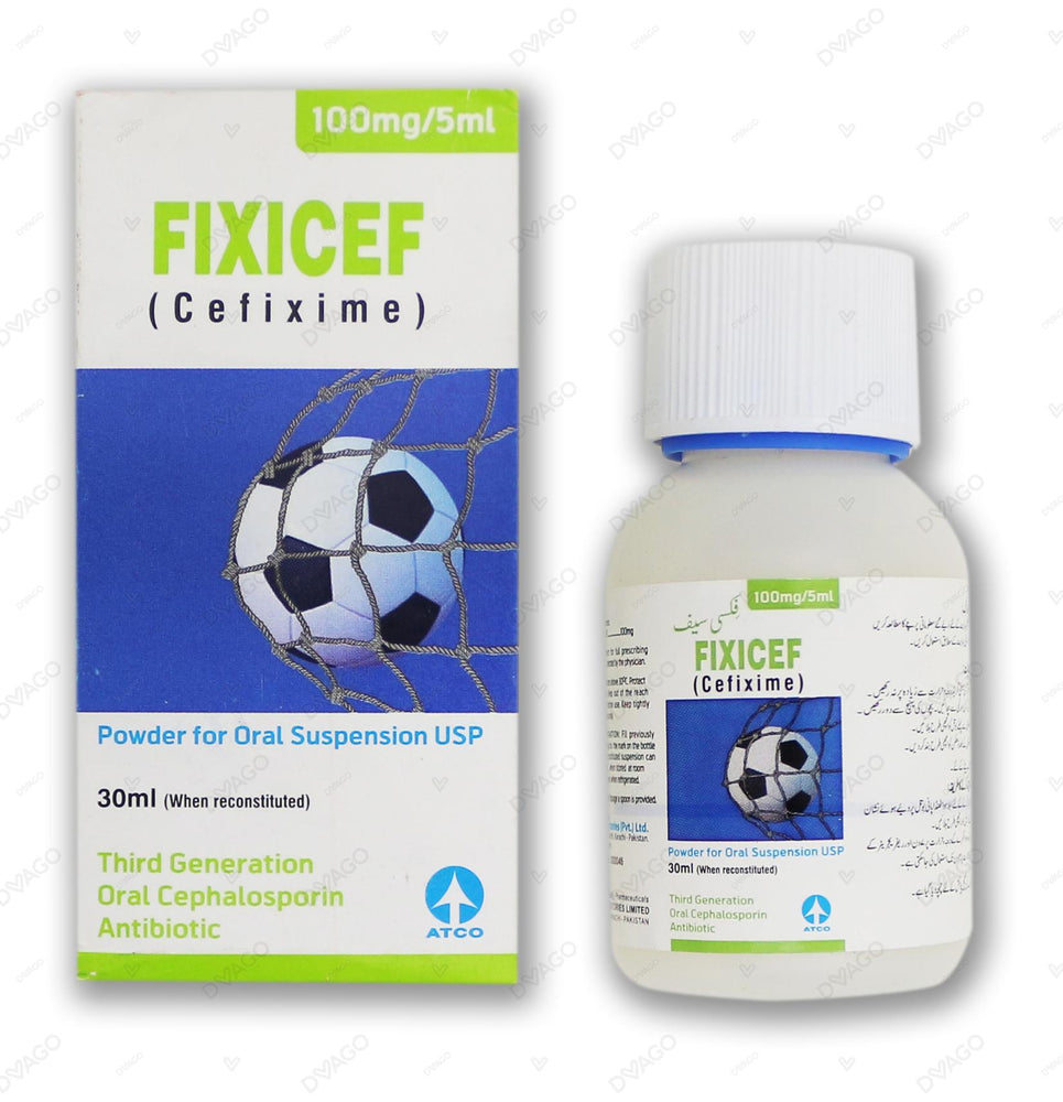 Fixicef 100mg Suspension
