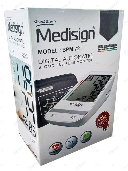Medisign Digital Automatic Blood Pressure Monitor BPM72