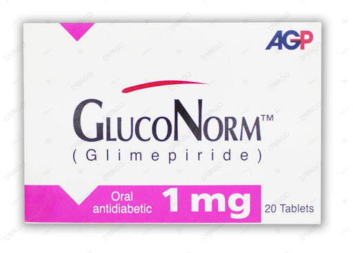 Gluconorm Tablets 1mg 2X10's