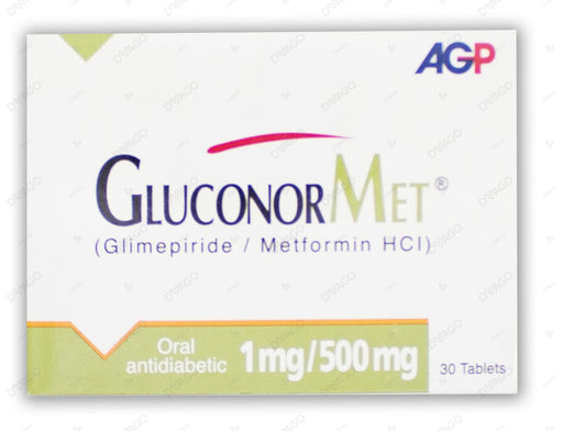 Gluconormet Tablets 1/500mg 30's
