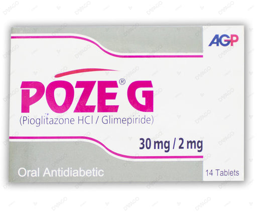 Poze G Tablets 30/2mg 14's
