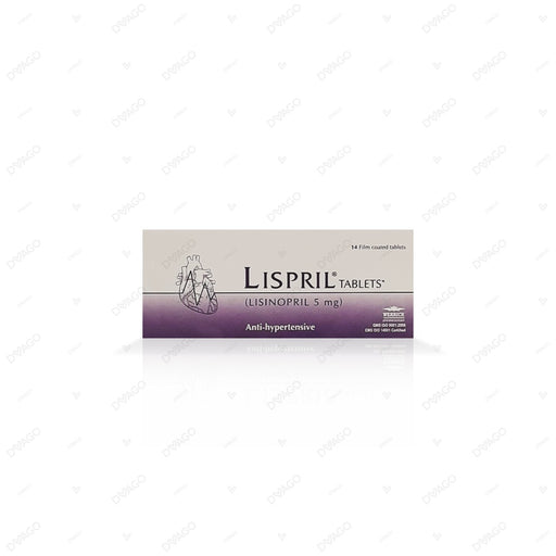 Lispril 5mg Tablets 14's