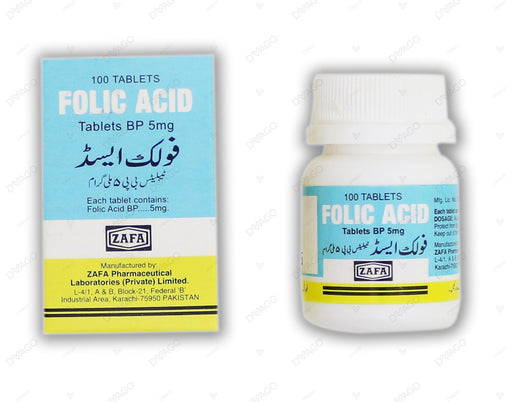 Folic Acid 5mg Tablets 100's