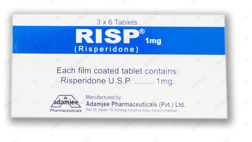 Risp 1mg Tablets 18's