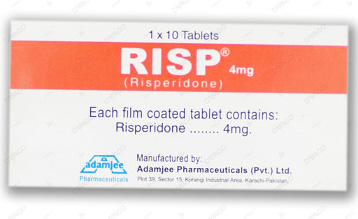 Risp 4mg Tablets 10's