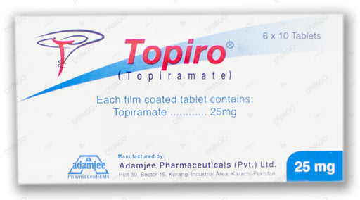 Topiro 25mg Tablets 60's