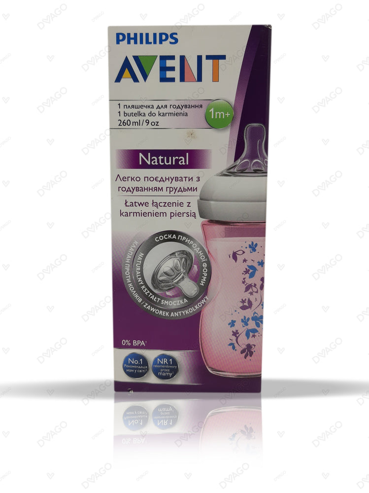 Avent Natural Feeding Bottle 1M+ 260ml