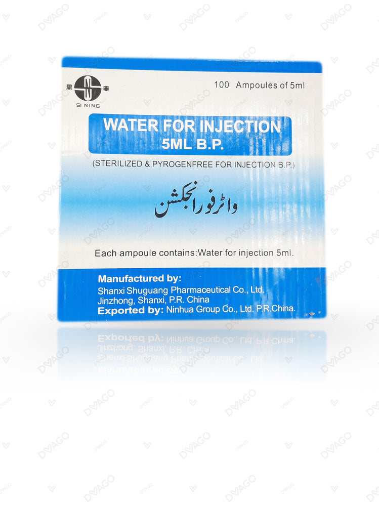 Distilled Water For Injection 100's