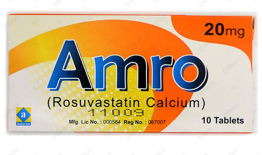 Amro 20mg Tablets 10's