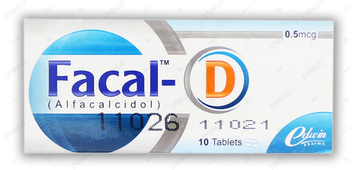 Facal-D 0.5mg Tablets 10's