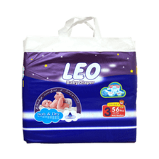LEO BABY DIAPERS JUMBO PACK MEDIUM 56PCS