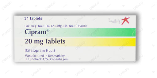 Cipram 20mg Tablets 14's