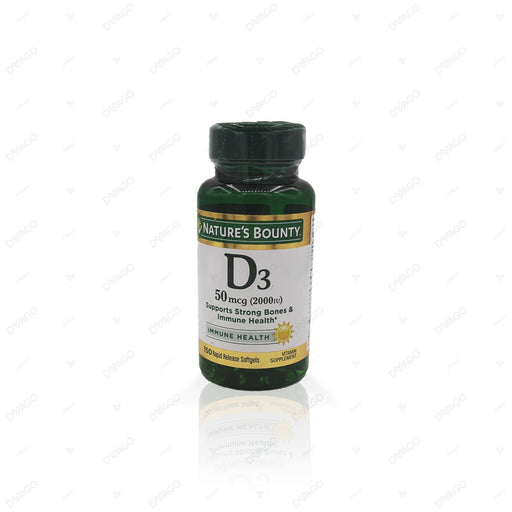 Nature's Bounty Vitamin D3 2000 IU 150 Softgels