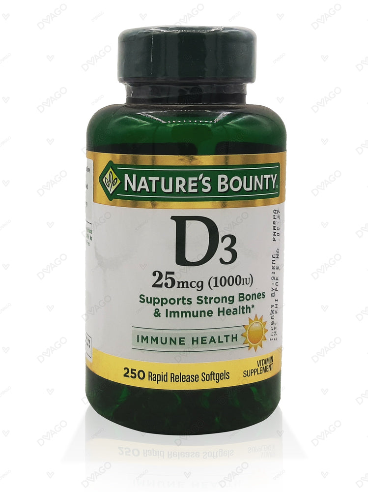 Nature's Bounty Vitamin D3 1000 IU 120 Rapid Release Softgels