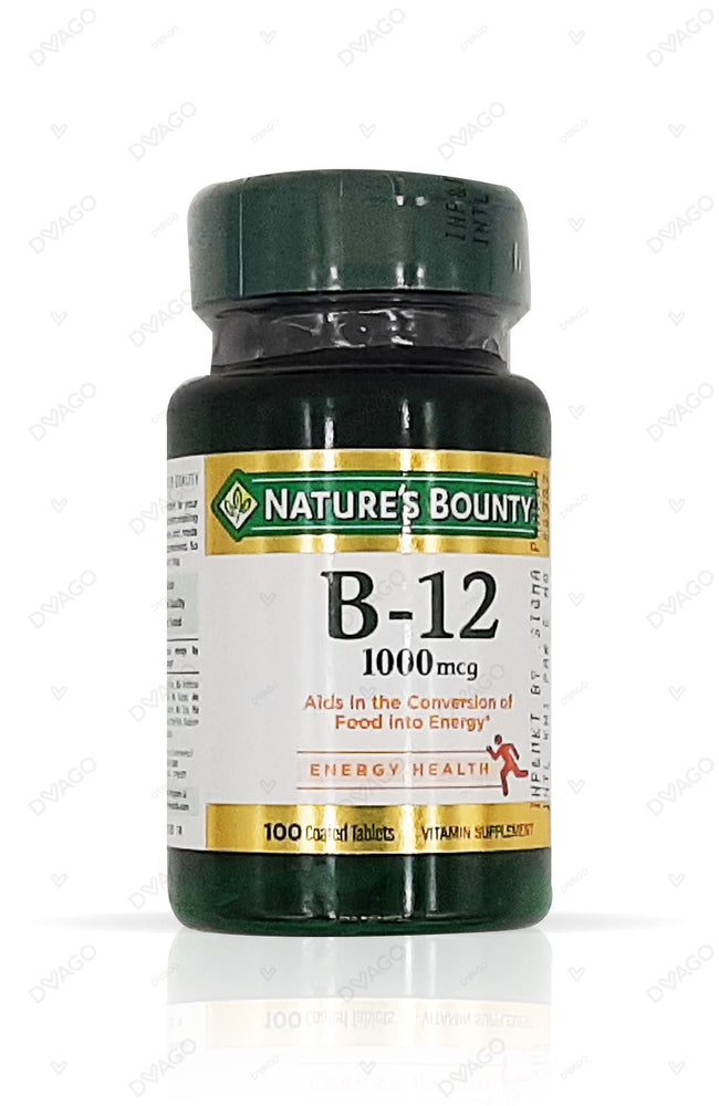 Nature's Bounty Vitamin B-12 1000mcg 100 Tablets