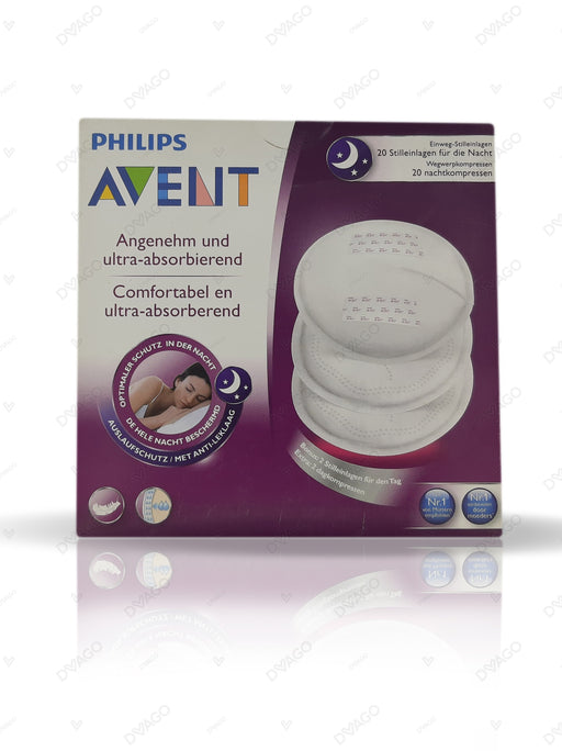 Avent Disposable Breast Pads Night 20 Count