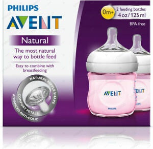 Avent Natural II PP Botle 125ml Pink