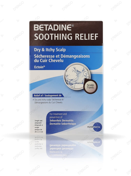 Betadine Soothing Relief Dry & Itchy Scalp 2.5ml 20 Ampoules
