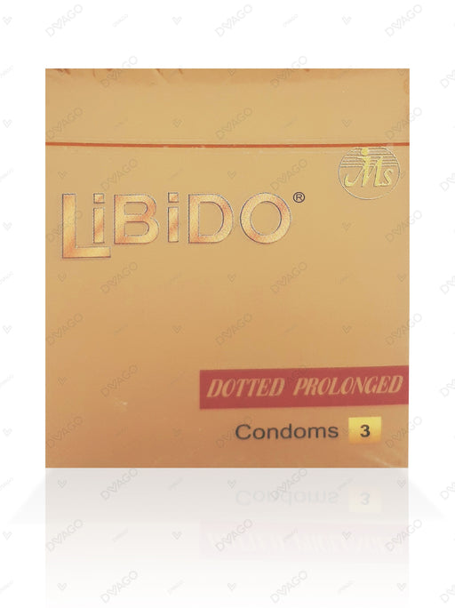Libido Condoms Dotted Prolong 3's