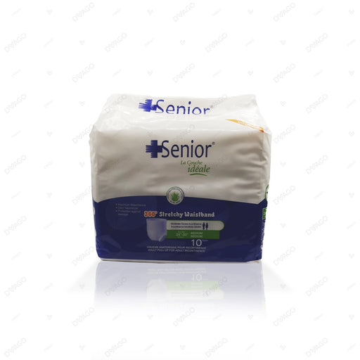 Senior Pull Up Adult Diapers Medium 10 Count