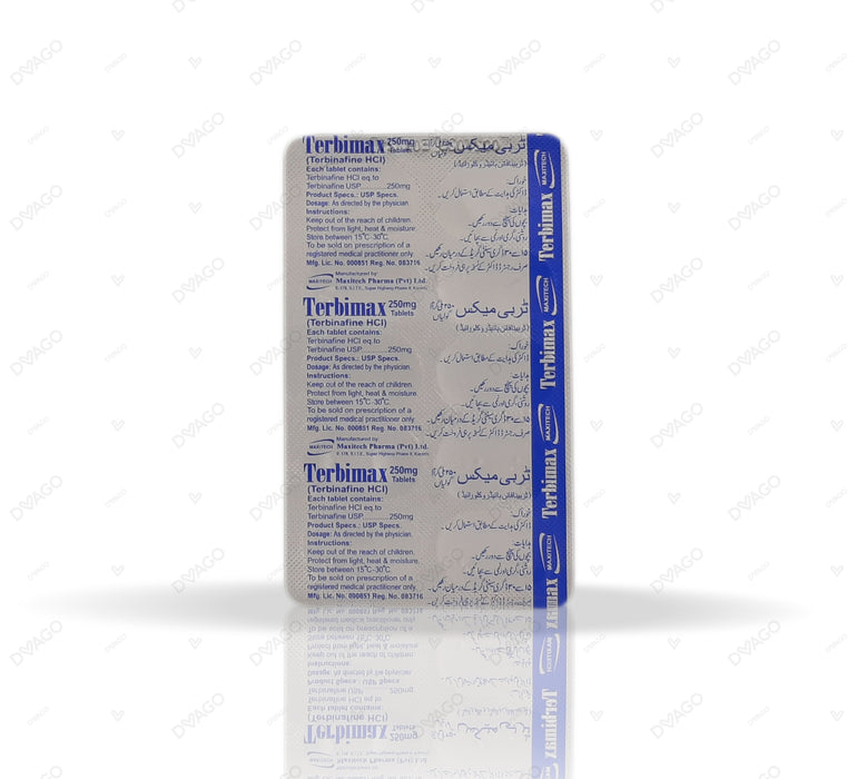 Terbimax 250mg Tablets 10's