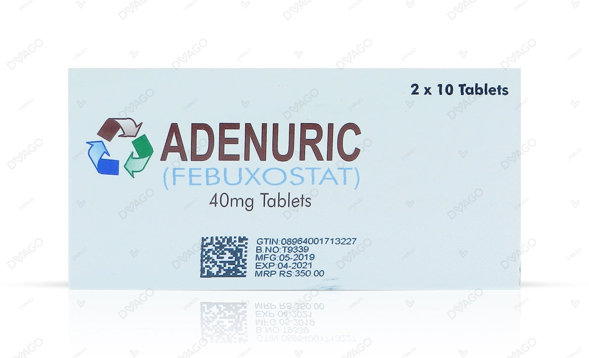 Adenuric 40mg 20 Tablets