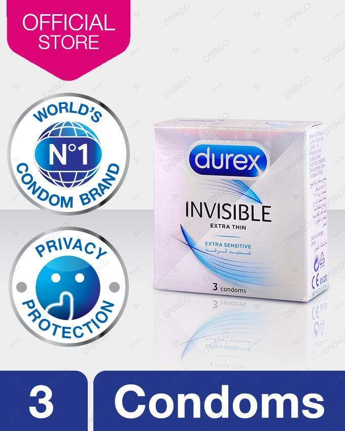 Durex Invisible Extra Thin Condom - Pack of 3
