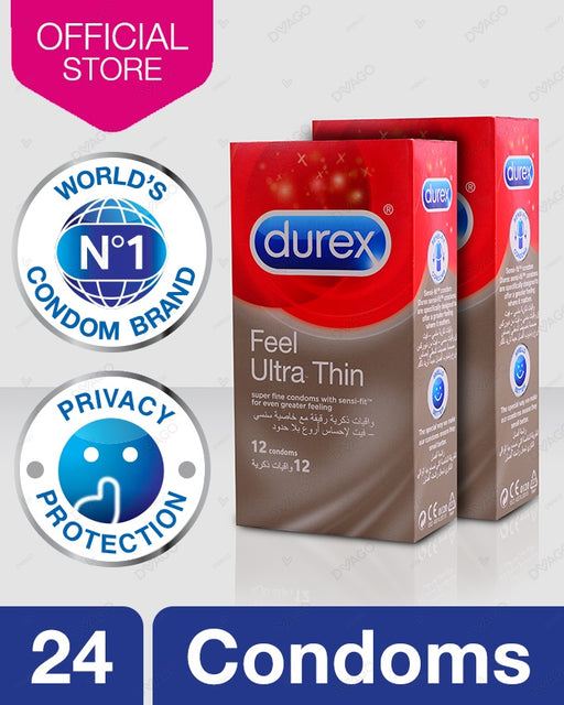 Durex Feel Ultra Thin Condoms Pack of 12 - Bundle of 2