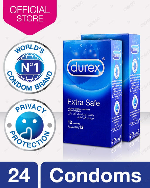 Durex Extra Safe Condoms Pack of 12 - Bundle Of 2