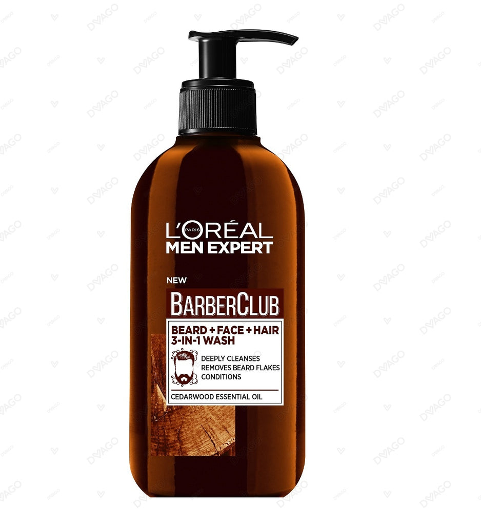 Barber Club Beard, Face & Hair Wash - 200ml