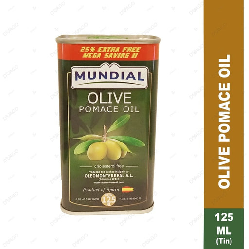 MUNDIAL 100% PURE OLIVE OIL 125ML TIN